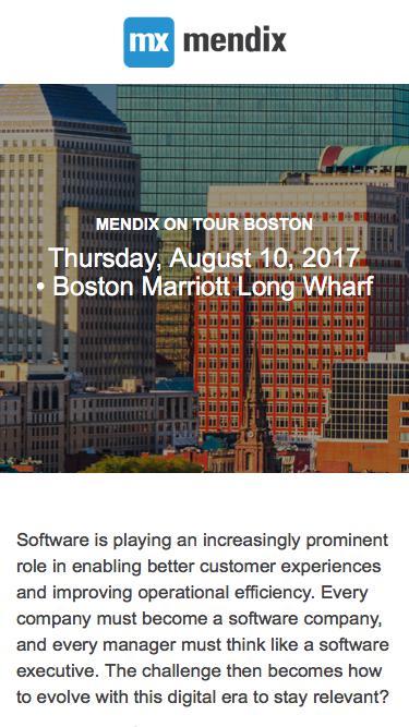 Mendix on Tour Boston