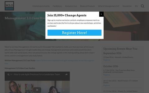 Screenshot of Case Studies Page management30.com - Management Case Studies - captured Sept. 1, 2016