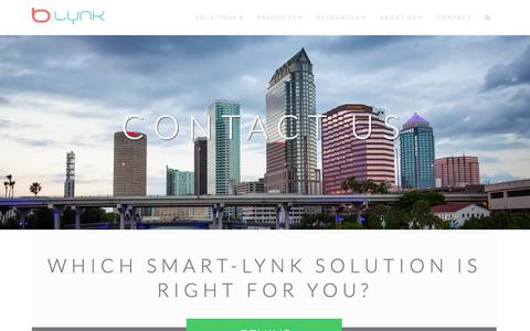 Screenshot of Contact Page b-lynk.com - Contact - B-Lynk - captured Sept. 27, 2018