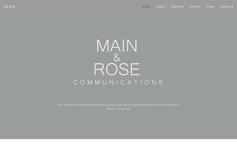 Screenshot of Home Page main-rose.com - Main & Rose - captured Feb. 3, 2016