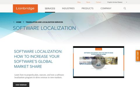 Software Localization and Translation Services | Lionbridge