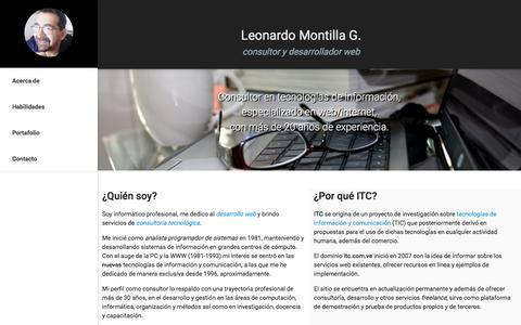 Screenshot of Menu Page itc.com.ve - Leonardo Montilla G. Consultor TI/Web - captured Nov. 26, 2016