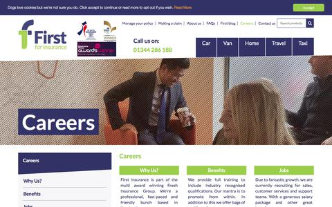 Screenshot of Jobs Page first.co.uk - Careers | First - captured Feb. 7, 2018