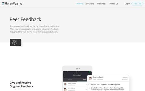 Peer Feedback | BetterWorks