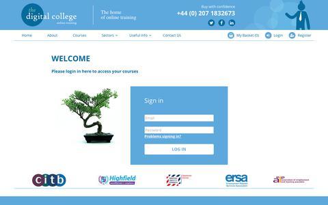 Screenshot of Login Page thedigitalcollege.co.uk - Login | Digital College - captured Nov. 7, 2018