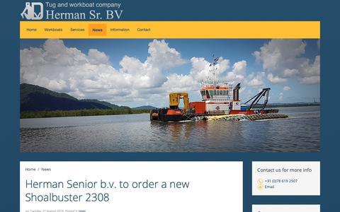 Screenshot of Press Page hermansr.com - Latest news   Herman Sr. The Tug & Workboat company - captured Oct. 19, 2018