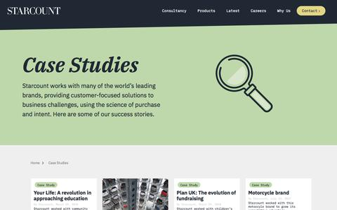 Screenshot of Case Studies Page starcount.com - Case Studies Archive - Starcount Insights - captured May 14, 2018