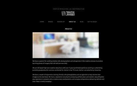 Screenshot of About Page addigitalworks.com - About Us - AD DIGITAL WORKS - captured Sept. 30, 2014