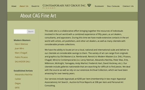 Screenshot of About Page cagfineart.com - About CAG Fine Art | Contemporary Art Group, Inc - captured Aug. 23, 2017