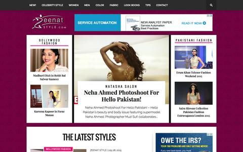 Screenshot of Home Page zeenatstyle.com - Zeenat Style - captured Aug. 4, 2015