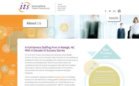 Screenshot of About Page onlineits.com - About Us   Raleigh NC Innovative Talent Solutions - captured Oct. 15, 2017