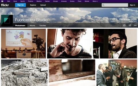 Screenshot of Flickr Page flickr.com - Flickr: Fuoricentro Studio's Photostream - captured Oct. 25, 2014
