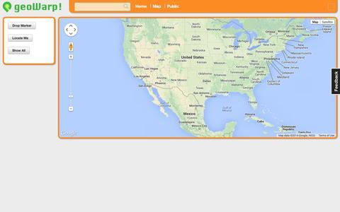Screenshot of Maps & Directions Page geowarp.com - geowarp - Your Locations Manager - captured Sept. 30, 2014