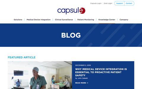 Screenshot of Blog capsuletech.com captured Dec. 4, 2019