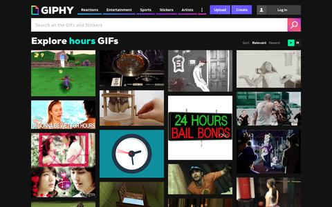 Screenshot of Hours Page giphy.com - Hours GIFs - Get the best GIF on GIPHY - captured Jan. 18, 2018