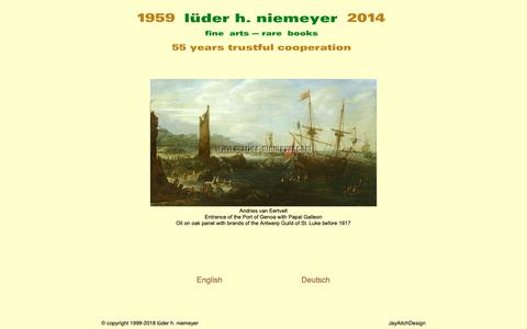 Screenshot of Home Page Site Map Page luederhniemeyer.com - 55 Years the Fine & Rare · lüder h. niemeyer fine arts since 1959 - captured Nov. 3, 2018