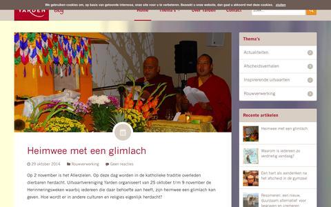 Screenshot of Blog yarden.nl - Een goed afscheid helpt je verder | Blog Yarden - captured Oct. 31, 2014