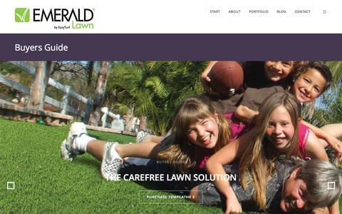 Screenshot of Home Page emeraldlawn.com - Emerald Lawn - captured July 21, 2015