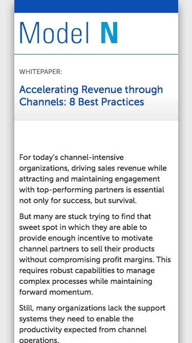 WHITEPAPER:  Accelerating Revenue through Channels: 8 Best Practices