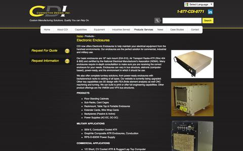 Screenshot of Jobs Page connectivedesign.com - Custom Electronic Enclosures   CDI - captured July 9, 2017