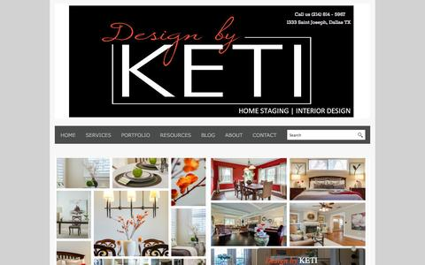 Screenshot of Home Page designbyketi.com - Home Staging Dallas | Interior Decorators and Home Stagers - captured Sept. 30, 2014