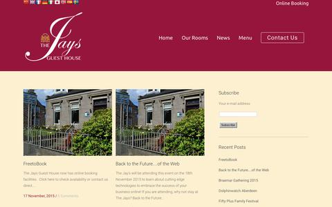 Screenshot of Press Page jaysguesthouse.co.uk - The Jays Guest House | Aberdeen, Scotland | Award Winning Guest House Accommodation | Aberdeen, Scotland - captured Feb. 15, 2016