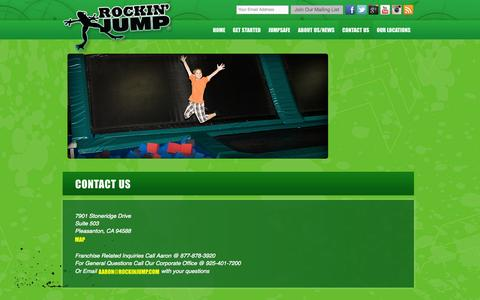 Screenshot of Contact Page rockinjump.com - Contact Details for Rockin Jump | Rockin' Jump - captured Sept. 23, 2014