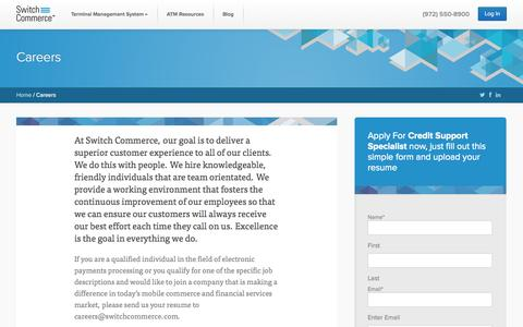 Screenshot of Jobs Page switchcommerce.com - Careers - Switch Commerce - captured Oct. 9, 2014