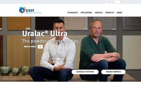 Screenshot of Case Studies Page dsm.com - Case study: MDF powder coatings for high-end kitchen furniture | A top coating with the best powder finishing - captured Jan. 1, 2019