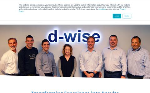 Screenshot of About Page d-wise.com - Clinical and Healthcare Systems Optimization   d-Wise.com - captured Oct. 13, 2018