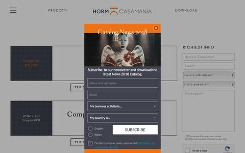 Screenshot of Press Page horm.it - News | Arredare casa con mobili di design Horm e Casamania - captured July 16, 2018