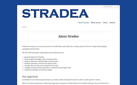 Screenshot of Home Page stradea.org - STRADEA - Strategic Business Collaboration - captured Feb. 3, 2016