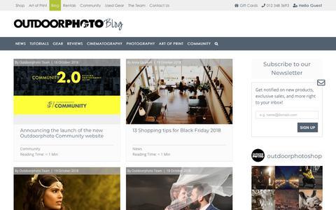 Screenshot of Blog outdoorphoto.co.za - Outdoorphoto Blog | Photography Gear Reviews, News and Interviews - captured Oct. 22, 2018