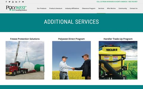 Screenshot of Services Page polywest.ca - Services and Programs – Polywest Ltd. - captured Nov. 8, 2016