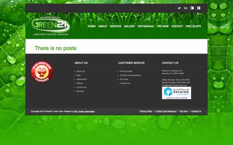 Screenshot of Blog green21lawn.com - Blog - Green 21 Lawn Pest Control Services - captured Oct. 3, 2014