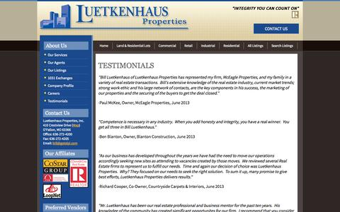 Screenshot of Testimonials Page gotolpi.com - Testimonials - captured Oct. 3, 2014