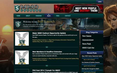 Screenshot of Blog mmocashout.com - Blog | MMO Cashout - captured Oct. 31, 2014