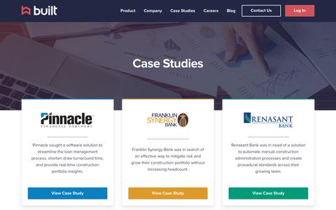 Screenshot of Case Studies Page getbuilt.com - Case Studies | Built Technologies - captured March 6, 2019