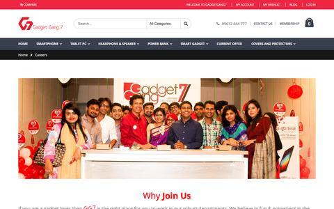 Screenshot of Jobs Page gadgetgang7.com - Careers - captured May 14, 2017
