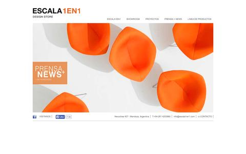 Screenshot of Home Page escala1en1.com - Escala1en1 - captured Sept. 26, 2014