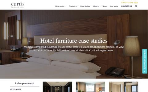 Screenshot of Case Studies Page curtisinteriors.co.uk - Hotel furniture projects ×€ Curtis Furniture case studies - captured Nov. 14, 2016