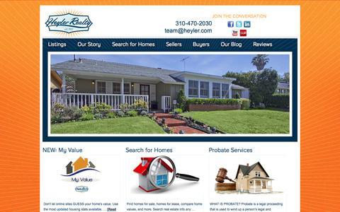 Screenshot of Home Page heyler.com - Heyler Realty. Right here since 1927. — - captured Oct. 3, 2014