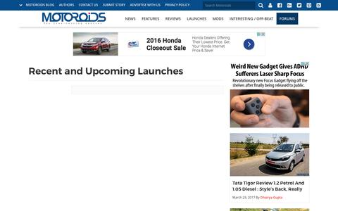 Recent and Upcoming Launches | Motoroids