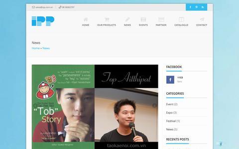 Screenshot of Press Page ipp.com.vn - News Archives - IPP - captured Nov. 2, 2014
