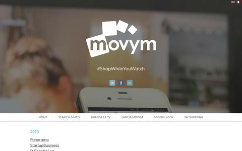 Screenshot of Press Page movym.com - Movym Automatic Content Recognition – Press - captured Oct. 6, 2014