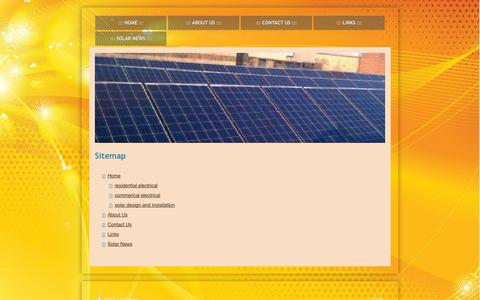 Screenshot of Site Map Page pierceelectricllc.com - Home - Pierce Electric LLC - captured Sept. 29, 2014