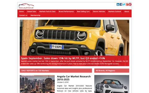 Screenshot of Home Page focus2move.com - Focus2move  Global Automotive Intelligence & Consulting - captured Oct. 4, 2018