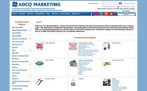 Screenshot of Products Page adcomarketing.com - Adco Marketing Promotional Items & Promotional Products - captured Dec. 9, 2018