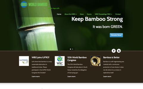 Screenshot of Home Page worldbamboo.net - World Bamboo - captured Oct. 9, 2014