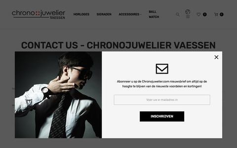 Screenshot of Contact Page chronojuwelier.com - Contact Us  - Chronojuwelier Vaessen - captured Dec. 8, 2018